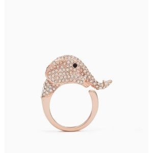 NWT Kate Spade Things We Love Pave Elephant Ring